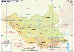 South Sudan Map - Digital File