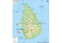 Sri Lanka Map - Digital File