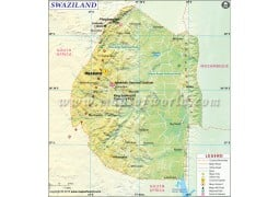Swaziland Map - Digital File