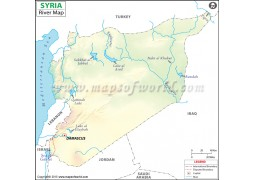 Syria River Map - Digital File