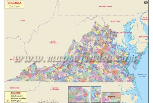 Virginia Zip Code Map