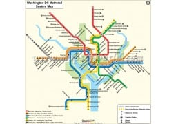 Washington (DC) Metro Rail Map - Digital File