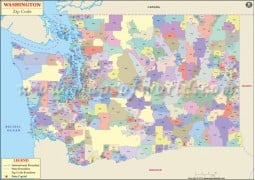 Washington Zip Code Map - Digital File