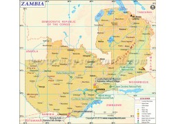 Map of Zambia - Digital File