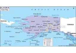 Alaska State Map - Digital File