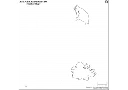 Antigua Barbuda Outline Map - Digital File