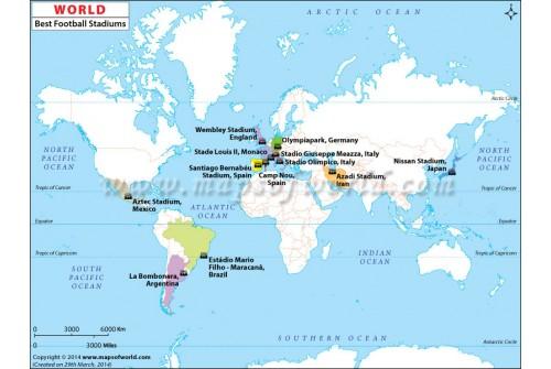 Best Football Stadiums Map