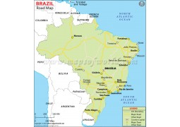 Brazil Road Map - Digital File