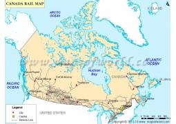 Canada Rail Map - Digital File