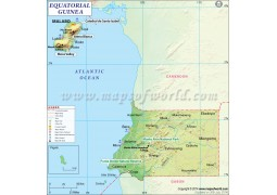 Equatorial Guinea Map - Digital File
