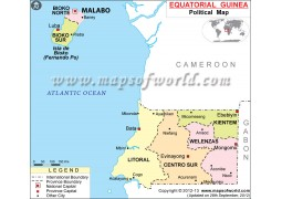 Equatorial Guinea Political Map - Digital File