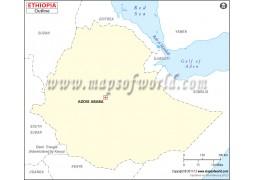 Ethiopia Outline Map - Digital File