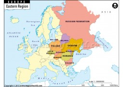 Europe Eastern Region Map - Digital File