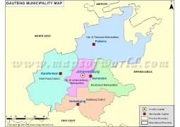 Gauteng Map - Digital File