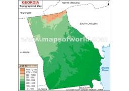 Georgia Topo Map - Digital File