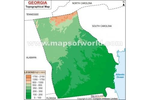 Georgia Topo Map