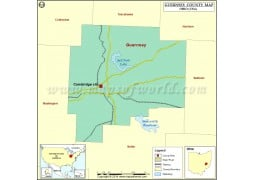 Guernsey County Map - Digital File