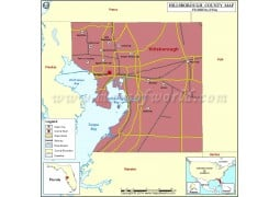 Hillsborough County Map - Digital File