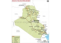 Iraq oil Pipelines Map - Digital File
