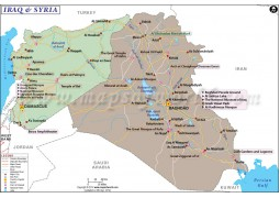 Iraq Syria Map - Digital File