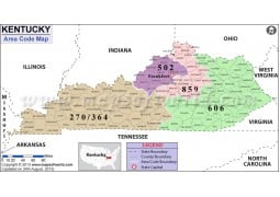 Kentucky Area Code Map - Digital File