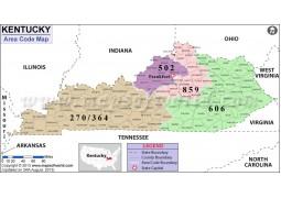 Kentucky Area Code Map