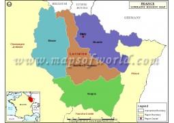 Lorraine State Map - Digital File