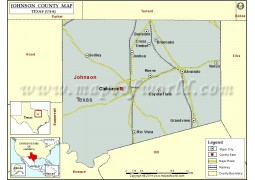 Johnson County Map, Texas - Digital File