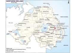 Northern Ireland Road Map - Digital File