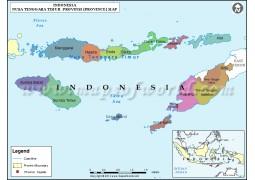 Nusa Tenggara Timur Map - Digital File