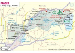 Placer County Map - Digital File