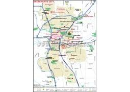 Sacramento City Map - Digital File