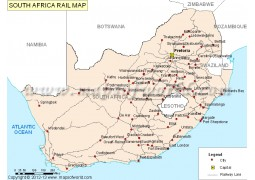 South Africa Rail Map - Digital File