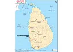 Sri Lanka Mineral Map - Digital File