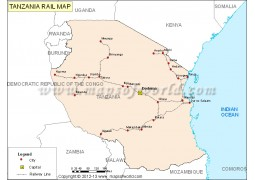 Tanzania Rail Map - Digital File