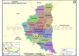 Ukraine Ternopil Region Map - Digital File