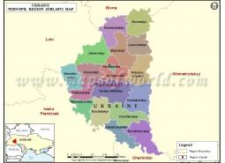 Ukraine Ternopil Region Map