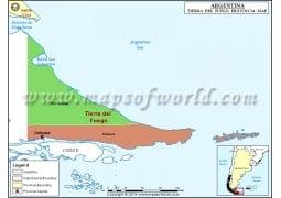 Tierra Del Fuego Map