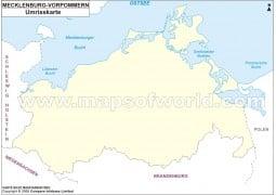 Umrisskarte Mecklenburg Vorpommern