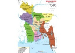 Political Map of Bangladesh