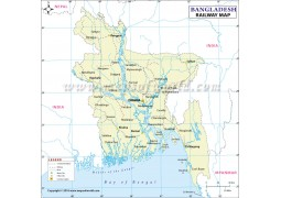 Bangladesh Railway Map - Digital File