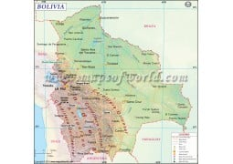 Bolivia Map - Digital File