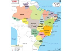 Brazil Political Map - Digital File