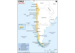 Chile Airports Map  - Digital File
