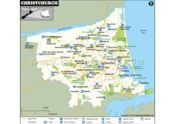 Christchurch City Map