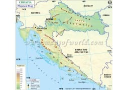 Croatia Physical Map