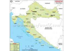 Croatia Road Map - Digital File