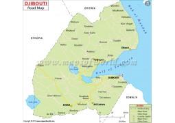 Djibouti Road Map - Digital File