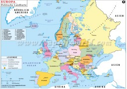 Politische Landkarte Europas