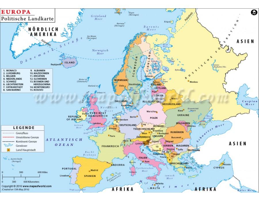 Buy Politische Landkarte Europas